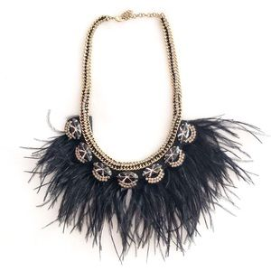 Stella & Dot Harper feather necklace